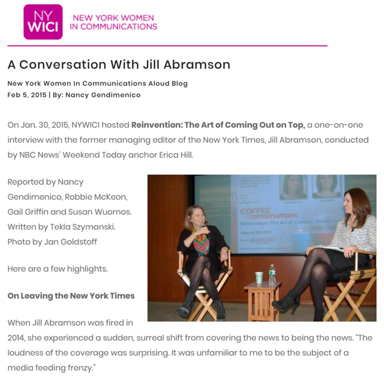 A conversation with Jill Abramson