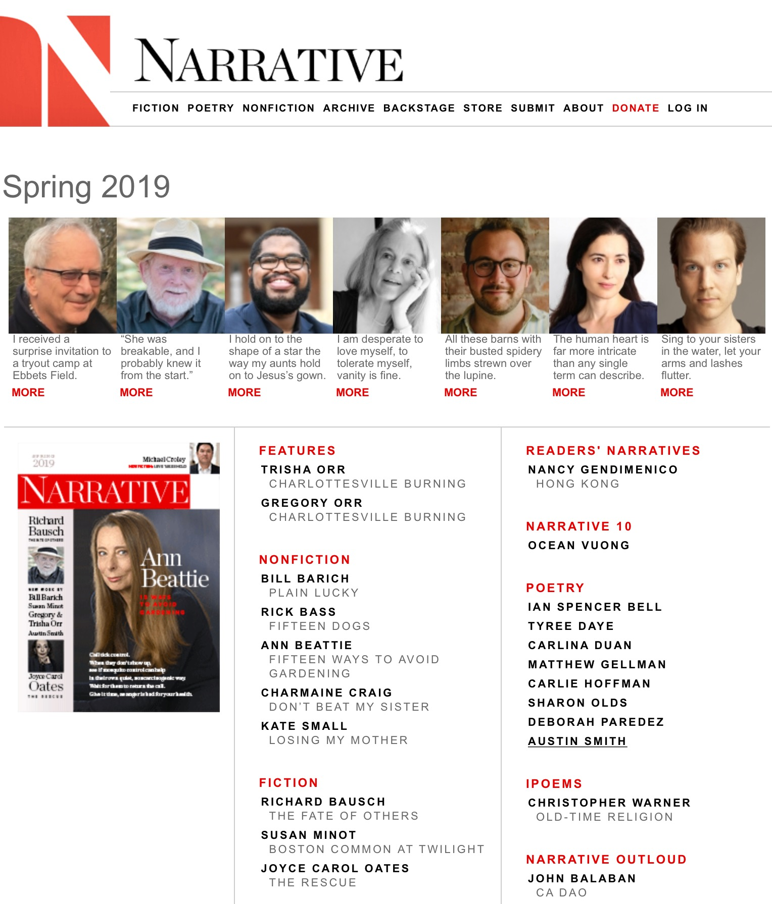 Nancy Gendemencio Narrative Magazine