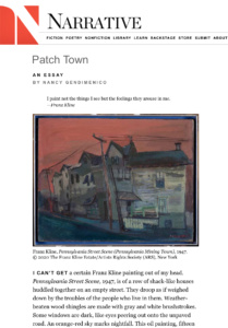 Patch Town an essay by Nancy Gendimencio